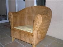 2 photo fauteuil rotin
